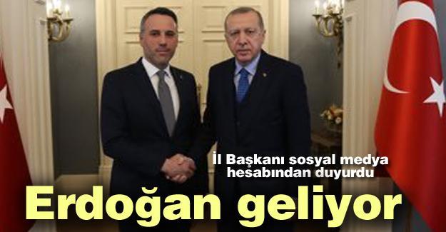 Erdoğan Sakarya'ya geliyor