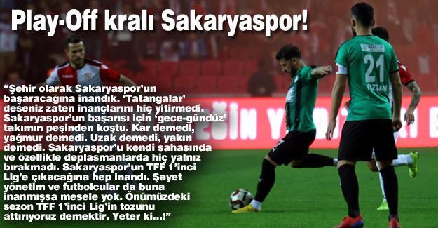 Play-Off kralı Sakaryaspor!…