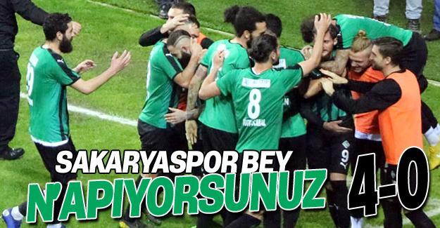 Sakaryaspor'dan muhteşem zafer! 4-0