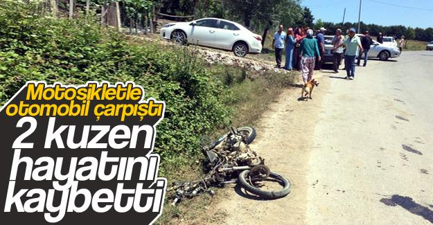 Kuzenleri kaza ayırdı