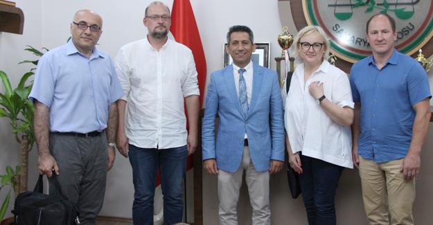 Marijampole Bölge Başsavcısı'ndan Burak'a ziyaret