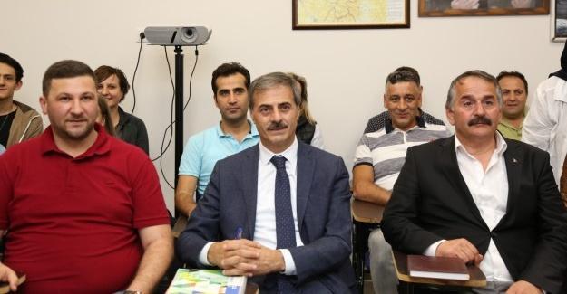 Başkan Alemdar Boşnakça kursuna misafir oldu