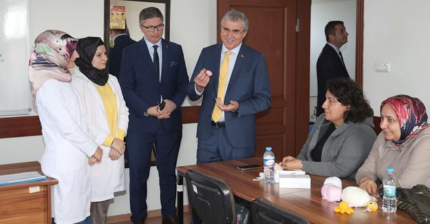 Başkan Yüce'den Karaman SAMEK'e ziyaret