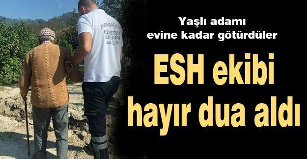 ESH ekibi hayır dua aldı