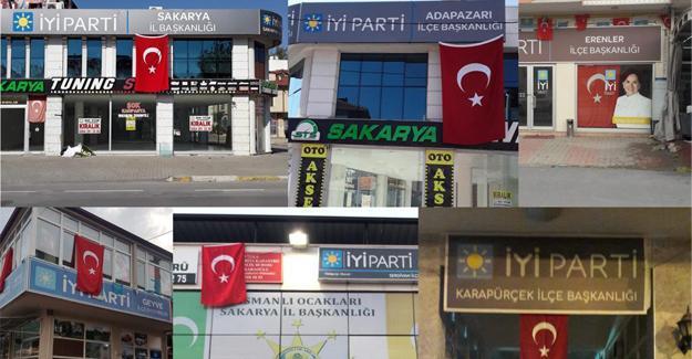 İYİ Parti tüm binalara bayrak astı