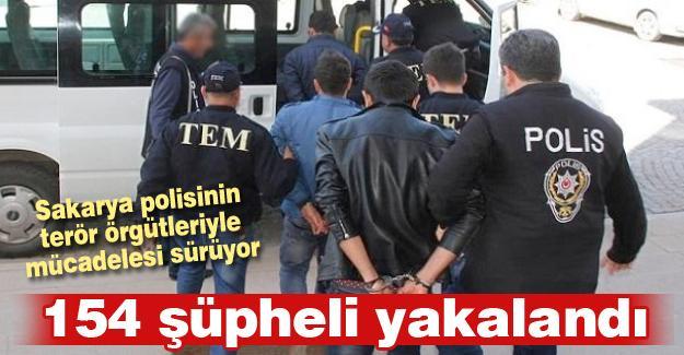 Sakarya polisinin terör örgütleriyle mücadelesi sürüyor