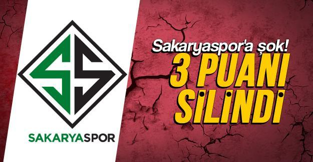 Sakayaspor'un 3 puanı silindi!