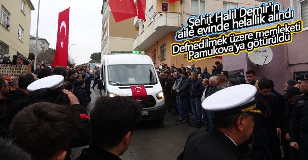 Şehit Halil Demir'in aile evinde helallik alındı