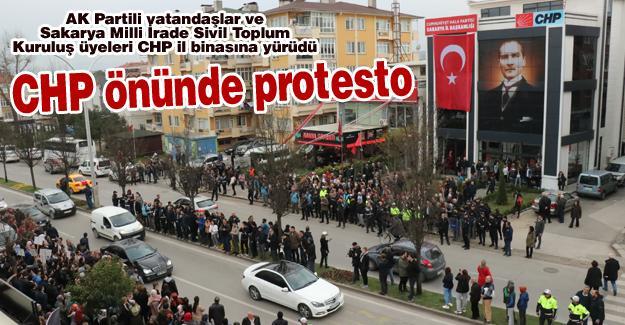 CHP önünde protesto!