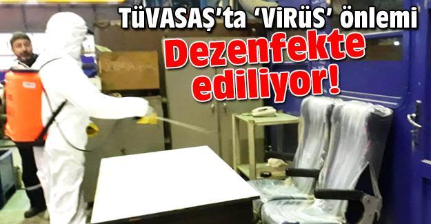 TÜVASAŞ'ta virüs önlemleri