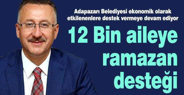 12 Bin aileye ramazan desteği