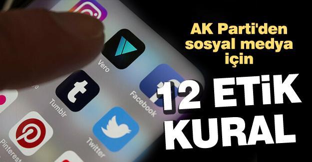 AK Parti'den sosyal medya için 12 etik kural
