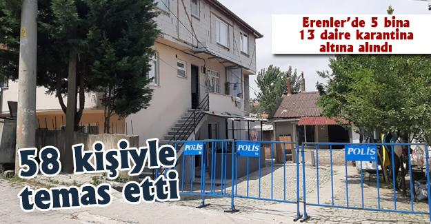 Erenler'de 5 binada 13 daire karantina altına alındı