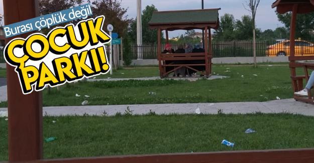 Çocuklarını parka götüren vatandaşlar şok oldu