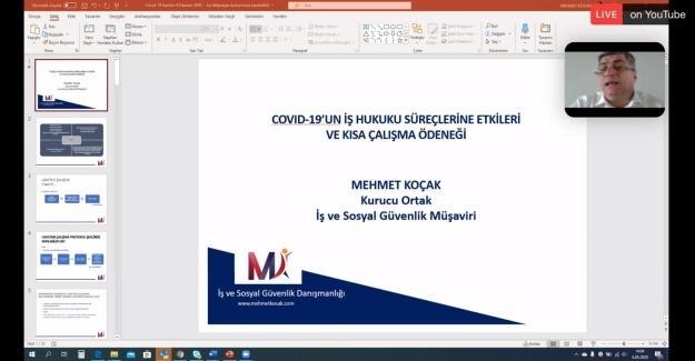 SATSO'da online 'Covid-19 Sürecinde İş Hukuku' semineri verildi