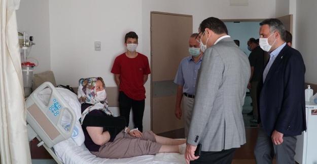 Ali İhsan Yavuz yaralıları ziyaret etti