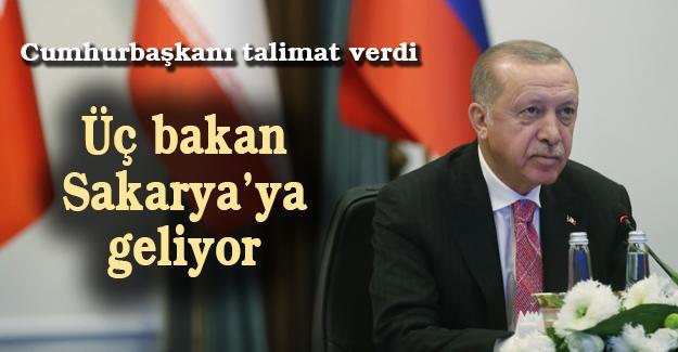 Cumhurbaşkanı talimat verdi! Üç bakan Sakarya'ya geliyor