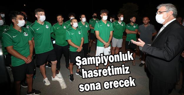 Yüce'den yeşil siyahlılara ziyaret