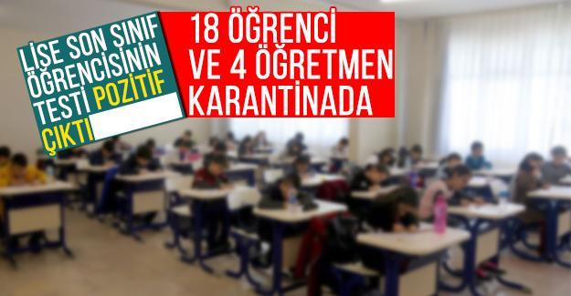 18 öğrenci ve 4 öğretmene koronavirüs karantinası