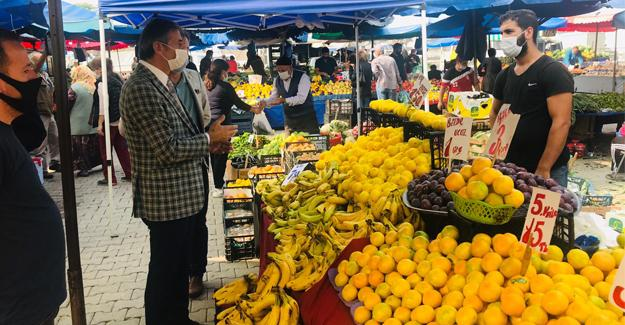 Başkan Alemdar pazar esnafını ziyaret etti