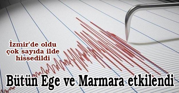 Bütün Ege ve Marmara etkilendi!