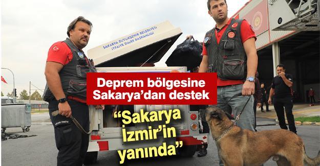 Deprem bölgesine Sakarya'dan destek