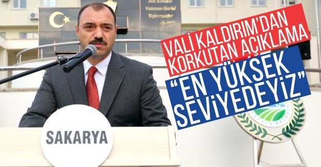 Vali Kaldırım'dan korkutan açıklama!