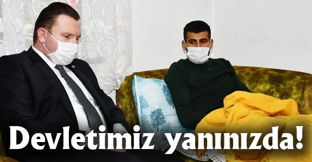 MHP'li Bülbül gazi Gökhan Çoban'ı ziyaret etti