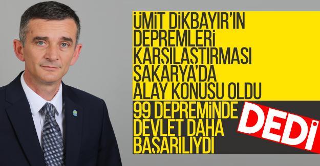 Milletvekili Dikbayır 99 depremi ile İzmir depremini kıyasladı
