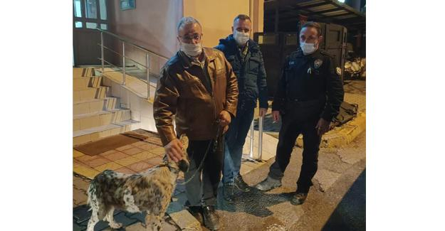Firari köpeğe polis şefkati!