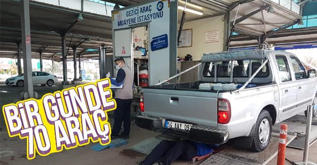 İlçe ilçe gezen istasyonda araçlar muayene ediliyor