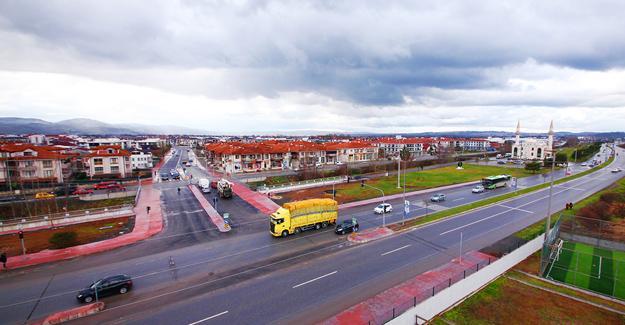 Köprü geçişli yol projesi tamamlandı