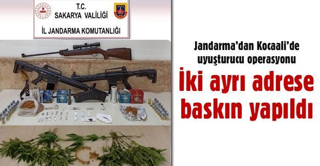 Jandarma'dan Kocaali'de uyuşturucu operasyonu!