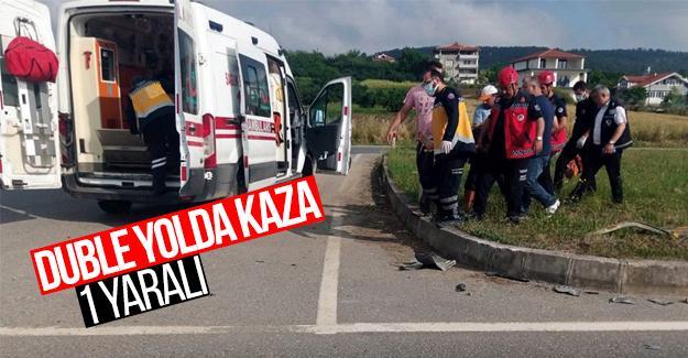 Duble yolda kaza: 1 yaralı