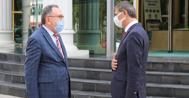 Kaymakam Çatmadım'dan Başkan Alemdar'a veda ziyareti
