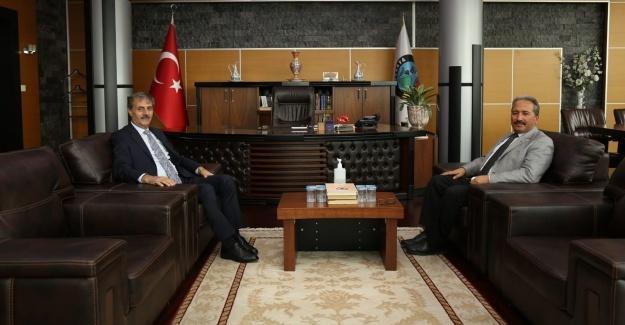 Kaymakam Candan'dan, Başkan Alemdar'a iade-i ziyaret
