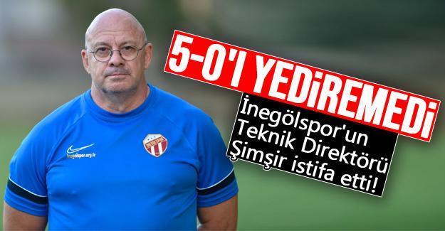 İnegölspor'un Teknik Direktörü Şimşir istifa etti!