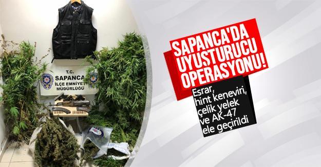 Sapanca'da uyuşturucu operasyonu!