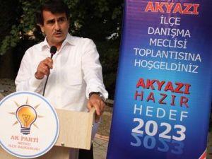 AK Parti Akyazı dayanışma toplantısı