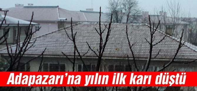 Adapazarı'na yılın ilk karı düştü
