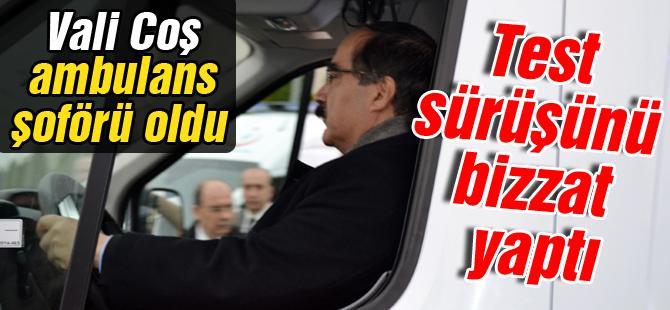 Vali Coş ambulans şoförü oldu