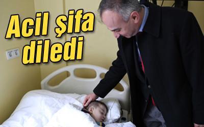 Başkan Yılmazer hastaları ziyaret etti