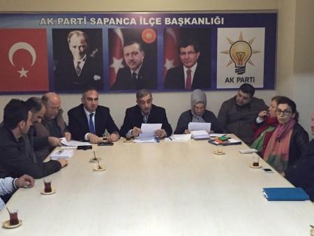 Yılmazer AK Parti Sapanca İlçe toplantısına katıldı