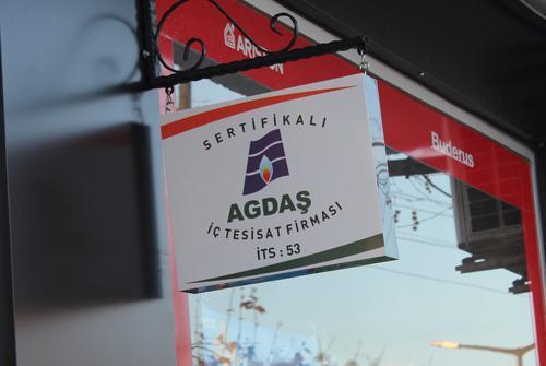AGDAŞ'tan yetkili firmalara yetki tabelası