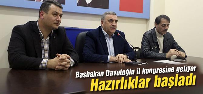 Başbakan Davutoğlu il kongresine geliyor