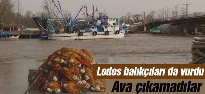 Lodos balıkçıları da vurdu