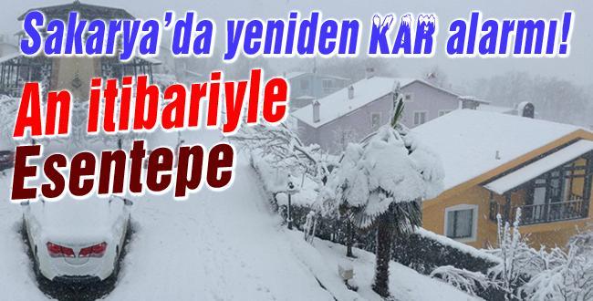 Sakarya'da kar etkisini göstermeye başladı
