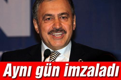 Bakan Eroğlu'ndan jet imza