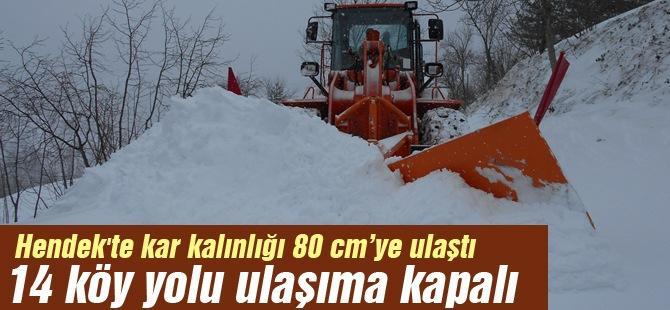 14 köy yolu ulaşıma kapalı