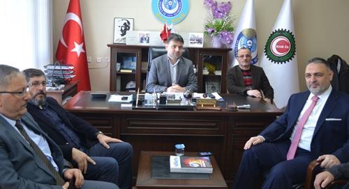 Aday Adayı Recep Hacıeyüpoğlu'ndan Hizmet-iş'e ziyaret